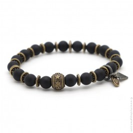 Black matt onyx and stars Sonora bracelet