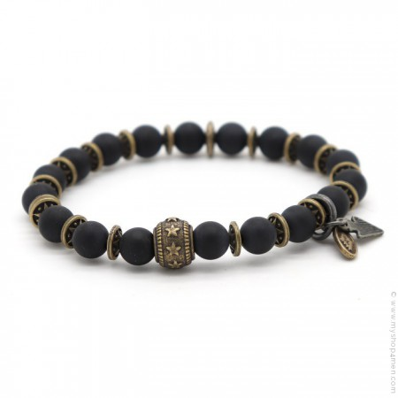 Bracelet Sonora star black matt onyx