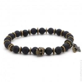 Bracelet Sonora skull black matt onyx