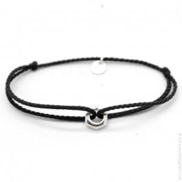 Silver nut bracelet