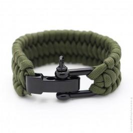Khaki survival paracord bracelet