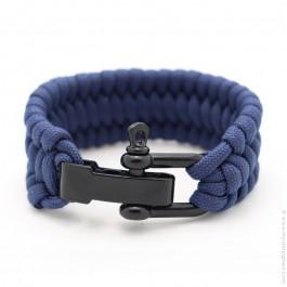 Navy blue survival paracord bracelet