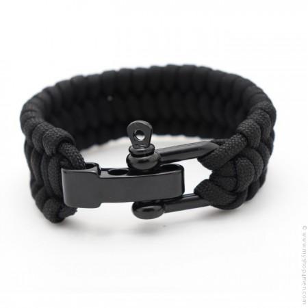 Black survival paracord bracelet