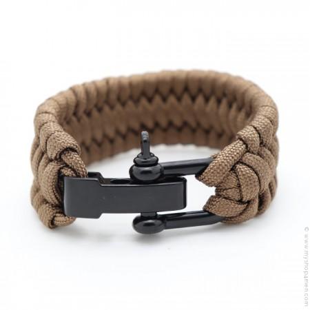 Bracelet paracorde taupe