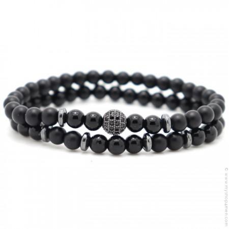 Bracelets black agate