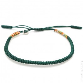 Bracelet Tibetain vert forêt