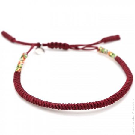 Bracelet Tibetain burgundy