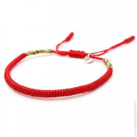 Bracelet Tibetain rouge
