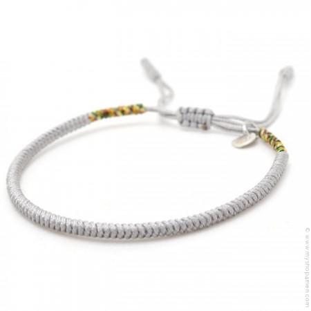 Bracelet Tibetain gris