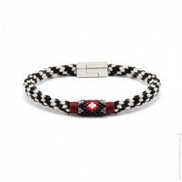 Hipanema Josh black bracelet for men