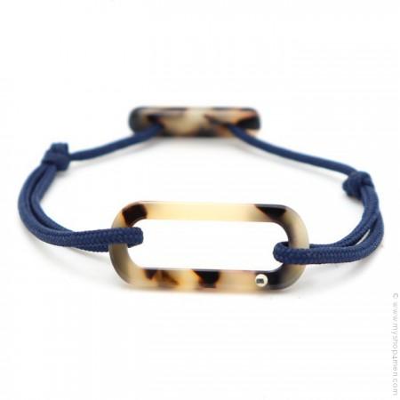 Bracelet oval havane cordon bleu
