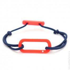 Bracelet oval corail cordon bleu