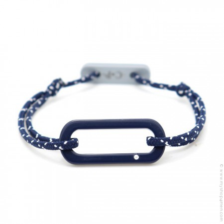 Navy blue Oval bracelet