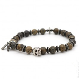 Bronzite matt and cross Sonora bracelet