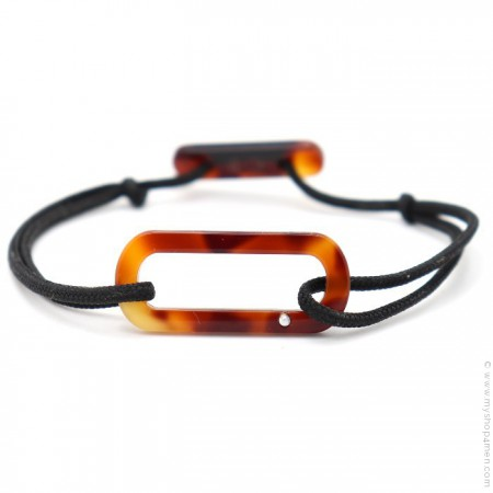 Cognac brown Oval bracelet