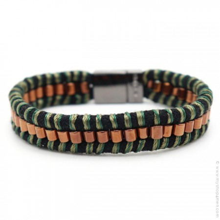 Hipanema black Clyde bracelet for men