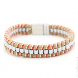 Hipanema orange Clyde bracelet for men