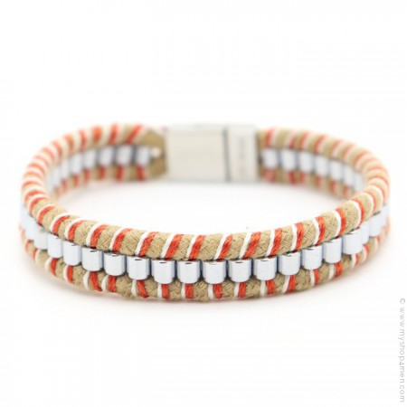 Bracelet Hipanema Clyde orange