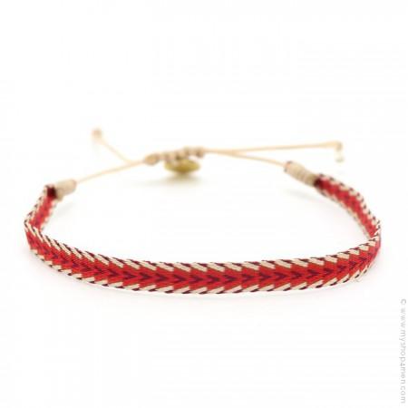 Bracelet Argentinas burgundy rouge