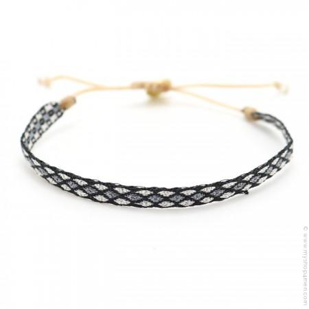 Bracelet Argentinas argent gris noir