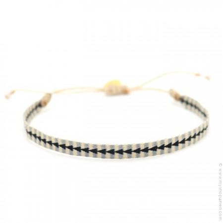 Argentinas bracelet beige black grey