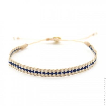 Bracelet Argentinas bleu et beige