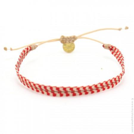 Argentinas bracelet coral red and beige