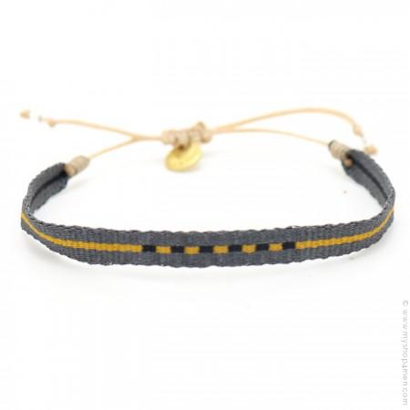 Bracelet Argentinas gris et safran