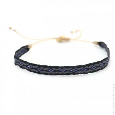 Argentinas bracelet black grey and navy blue