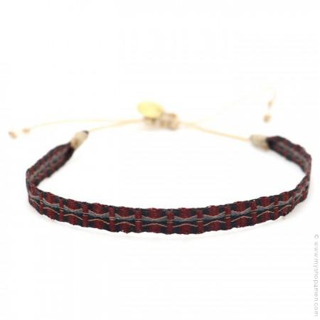 Bracelet Argentinas burgundy et gris brun