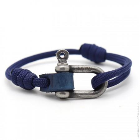 Bracelet Fisherman marine argent vieilli