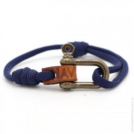 Bracelet Fisherman marine laiton antique