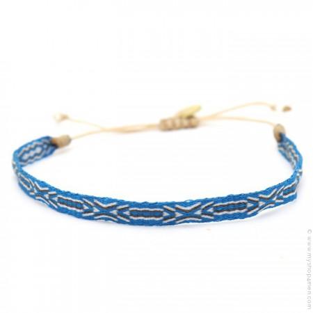 Bracelet Argentinas bleu gris