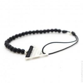 Bracelet Tandem onyx noir mat