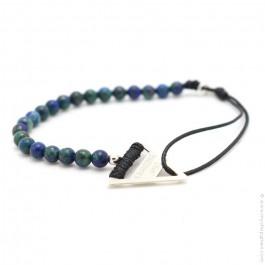 Bracelet Tandem chysocolle bleu