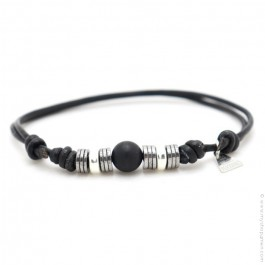 Bracelet Bengal onyx noir mat
