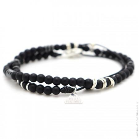 Bracelet Matt onyx mat
