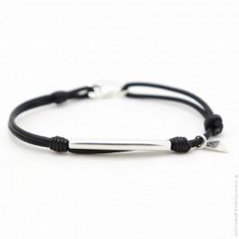 Les Belles Persones black mat onyx Bengal bracelet
