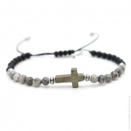 Les Belles Persones Salvi grey jasper bracelet