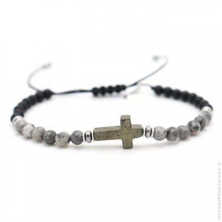 Bracelet Salvi jaspe gris