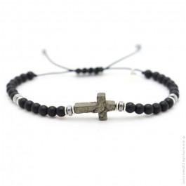 Les Belles Persones Salvi black matt onyx bracelet
