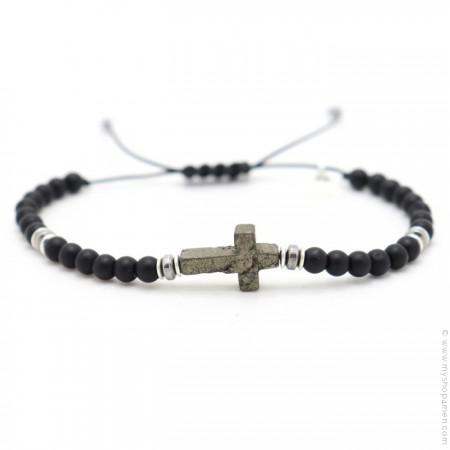 Bracelet Salvi onyx noir mat