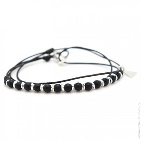 Bracelet Roll XS onyx noir mat
