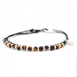 Les Belles Personnes Roll XS tiger eye bracelet