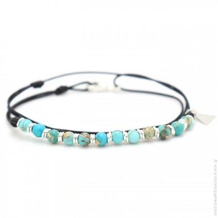 Les Belles Personnes Roll XS turquoise bracelet