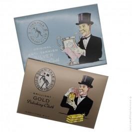 Set de 2 étoffes spéciales bijoux argent et or