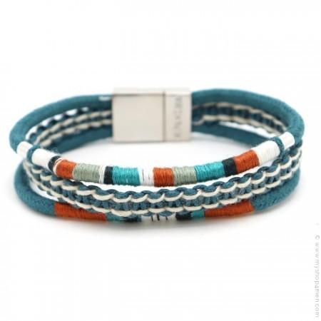 Hipanema blue Claude bracelet for men