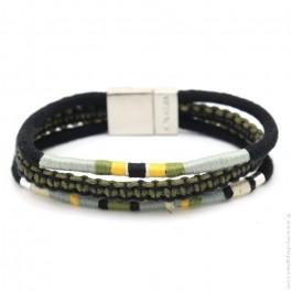 Hipanema khaki Claude bracelet for men