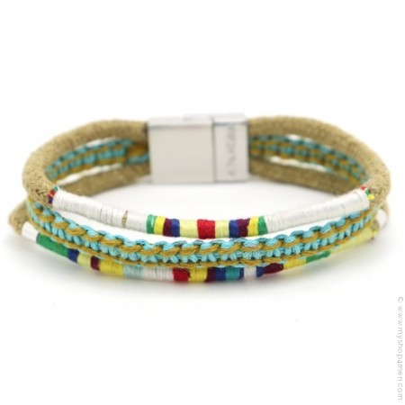 Bracelet Hipanema Claude turquoise