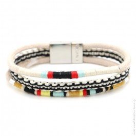 Hipanema white Claude bracelet for men